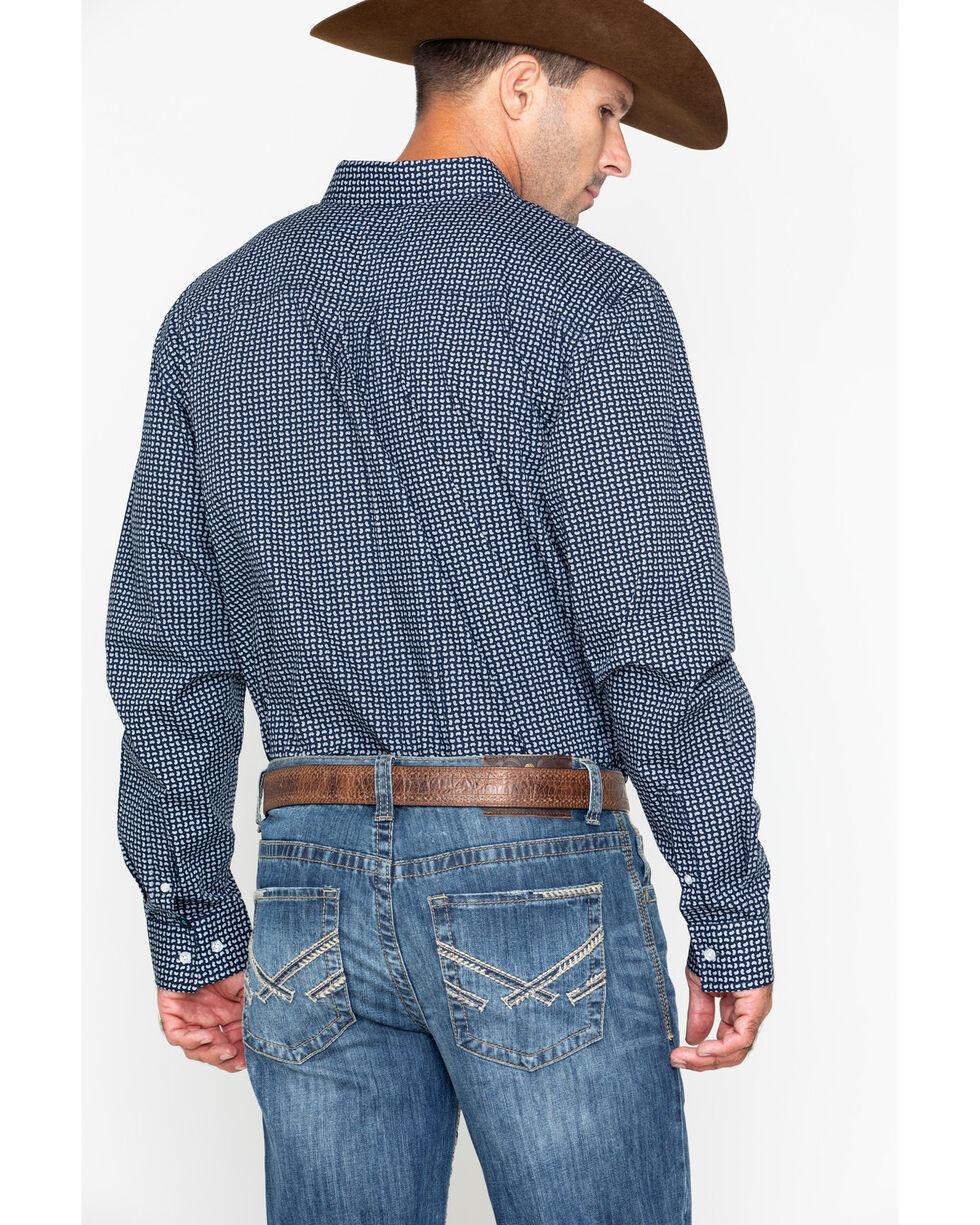 Cody James Core Men's Micro Paisley Print Long Sleeve Western Shirt , Navy, hi-res