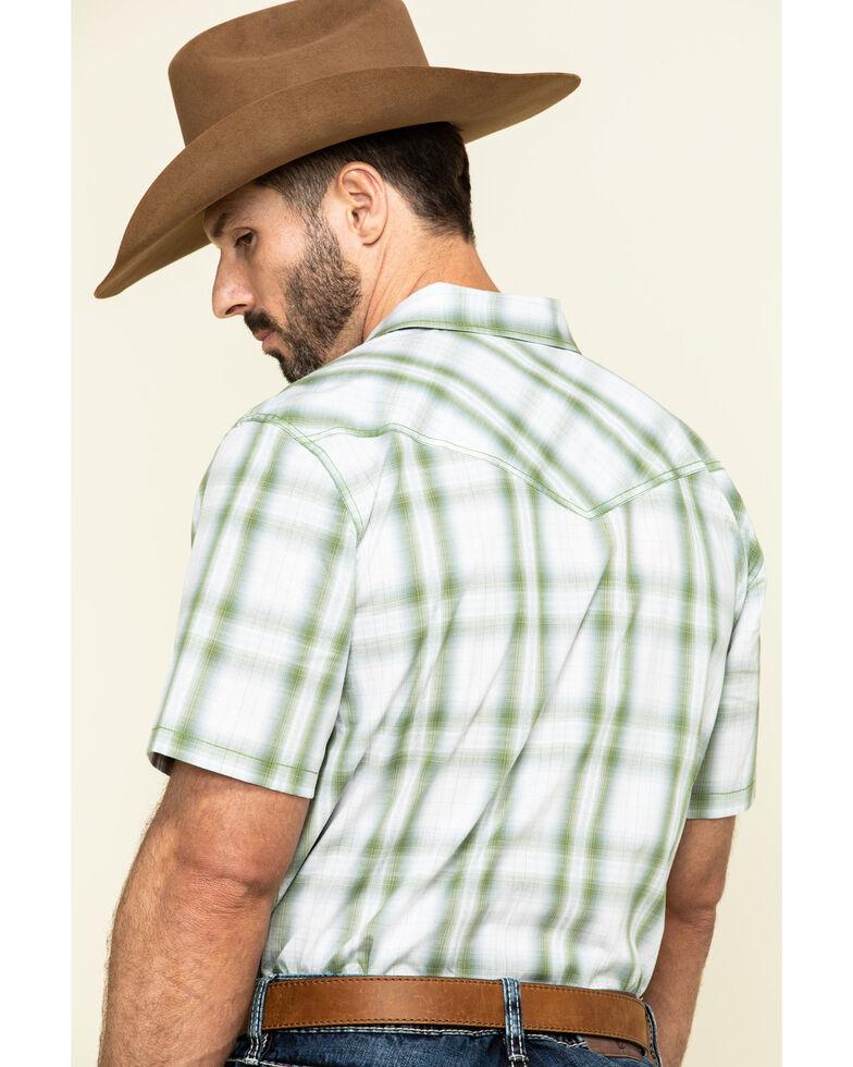 Cody James Men's Woodlands Large Plaid Short Sleeve Western Shirt , White, hi-res
