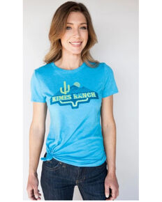 Kimes Ranch Women's Desertlands Graphic Tee  , Turquoise, hi-res