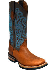 Ferrini Women's Brown Maverick Western Boots - Square Toe , Brown, hi-res