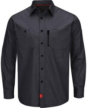 Red Kap Charcoal Grey MIMIX™ Woven Work Shirt , Charcoal Grey, hi-res