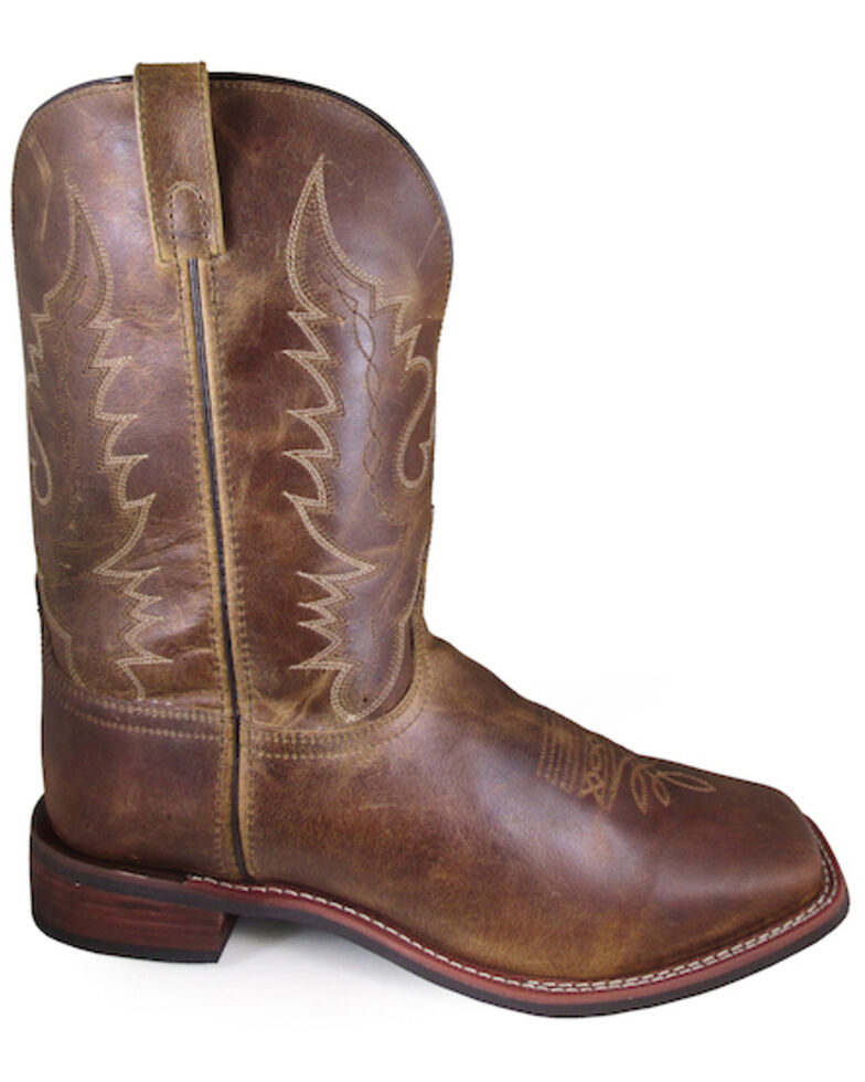 Smoky Mountain Men's Brown Western Boots - Wide Square Toe, Brown, hi-res