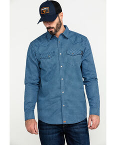 Cody James Men's FR Geo Print Long Sleeve Work Shirt - Big , Blue, hi-res