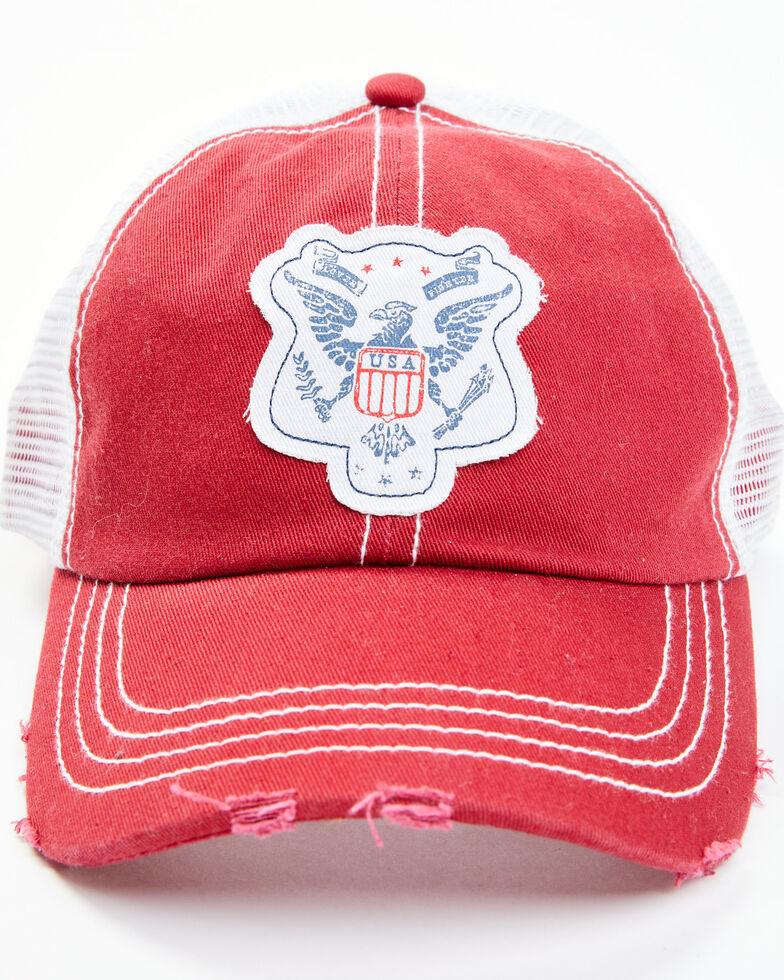 Idyllwind Women's Eagle Eye Ball Cap , Red, hi-res