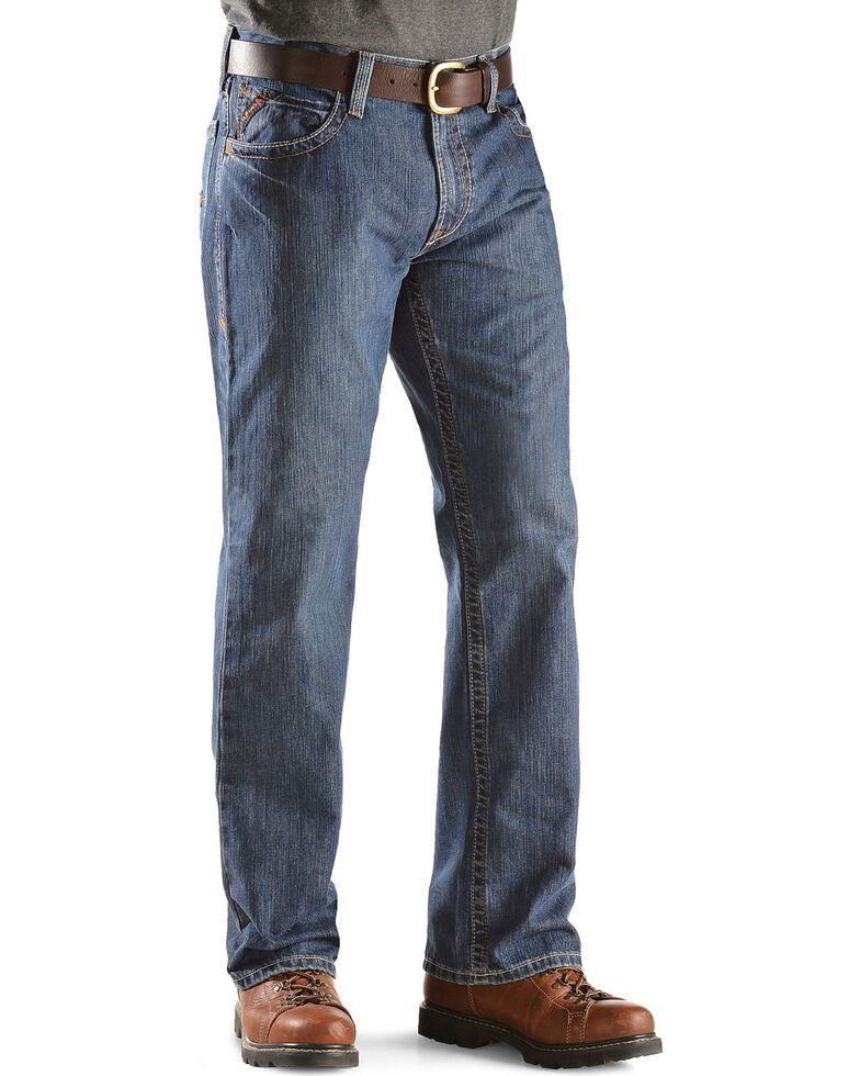 Ariat Men's Flint Fire Resistant Bootcut Work Jeans, Denim, hi-res