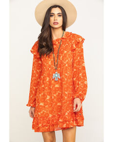 Free People Women's These Dreams Mini Dress, Orange, hi-res