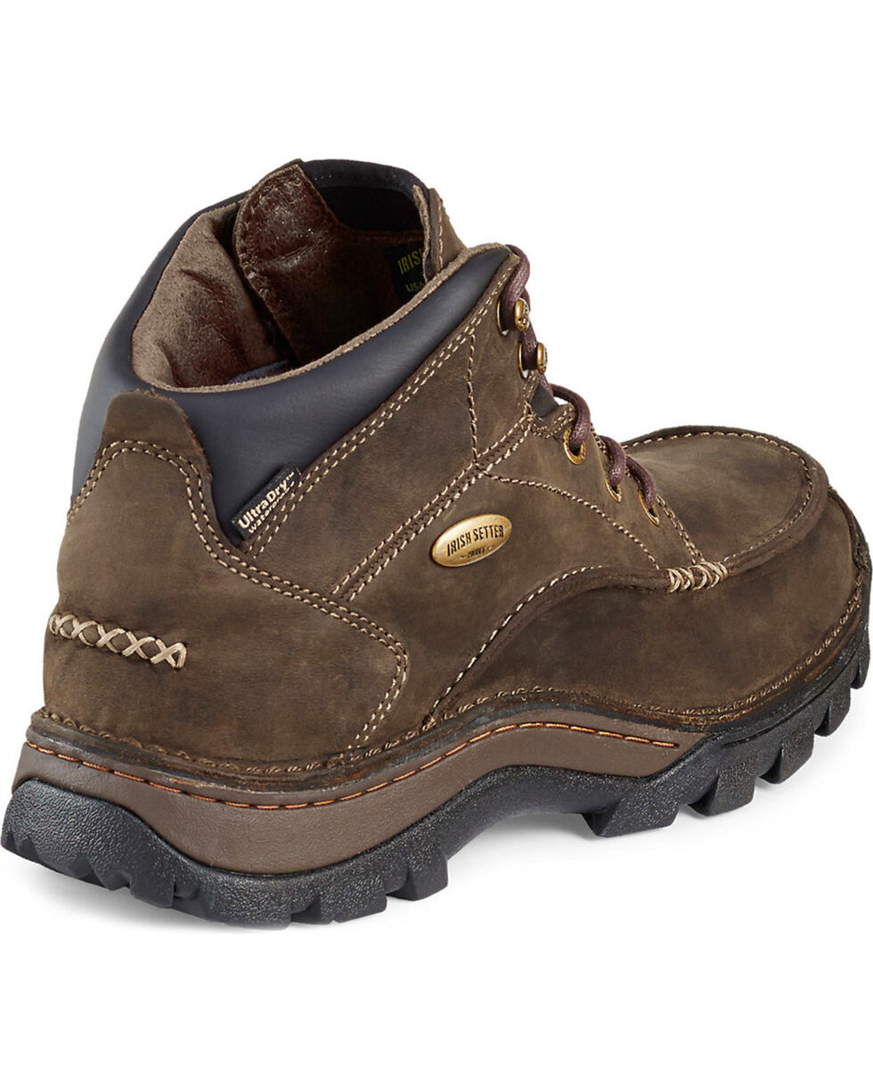 Irish Setter by Red Wing Shoes Men's Borderland Waterproof Boots - Moc Toe, Brown, hi-res