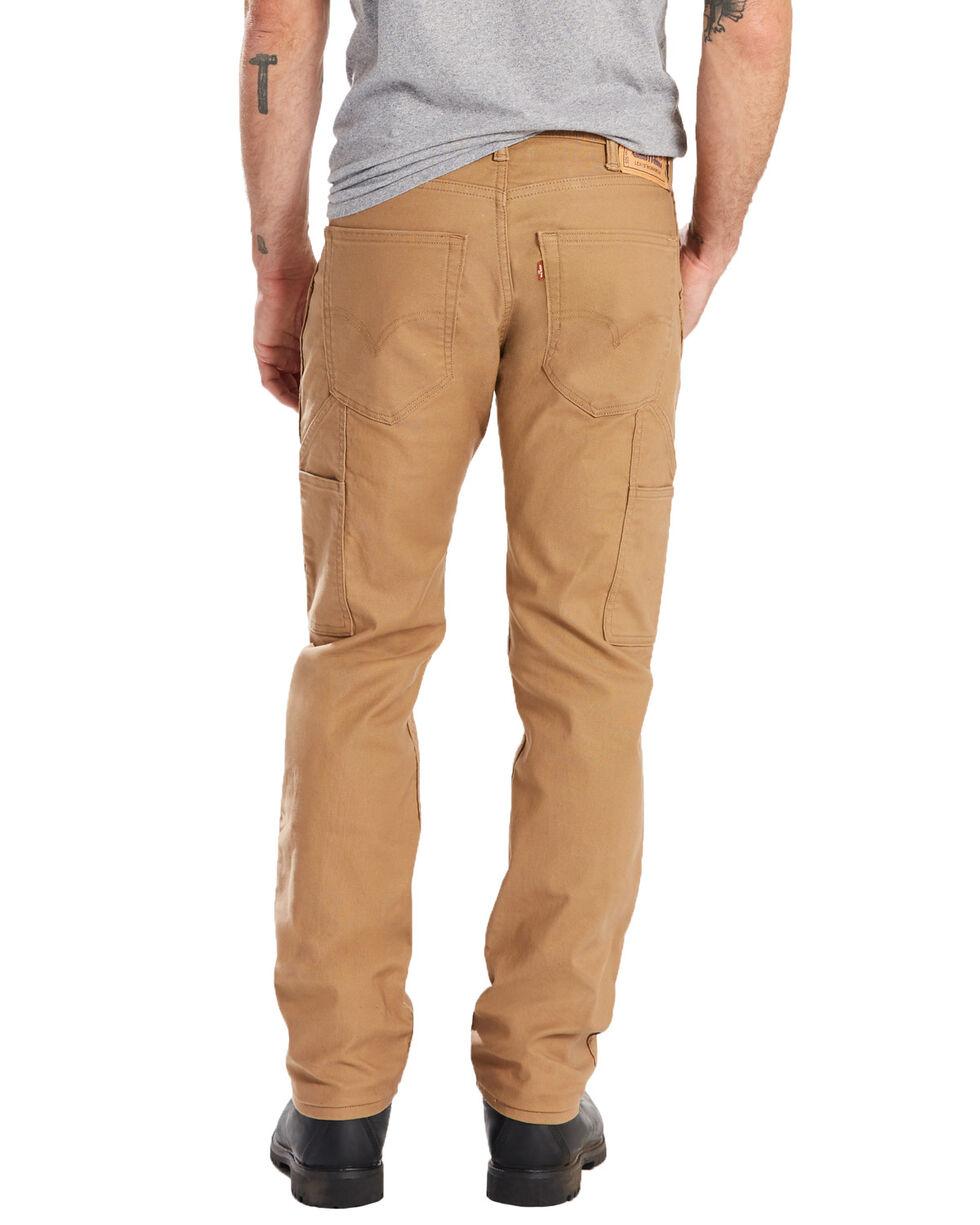 Levis Men's 505 Canvas Regular Straight Utility Work Pants , Beige/khaki, hi-res