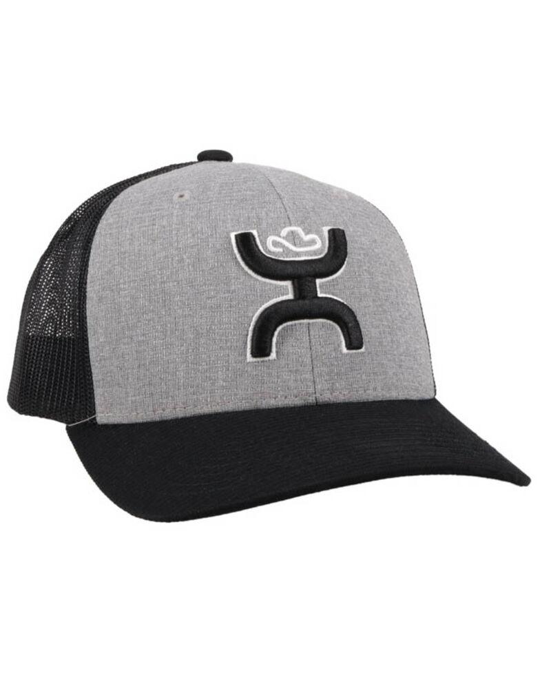 HOOey Men's Grey Sterling Logo Mesh Ball Cap , , hi-res