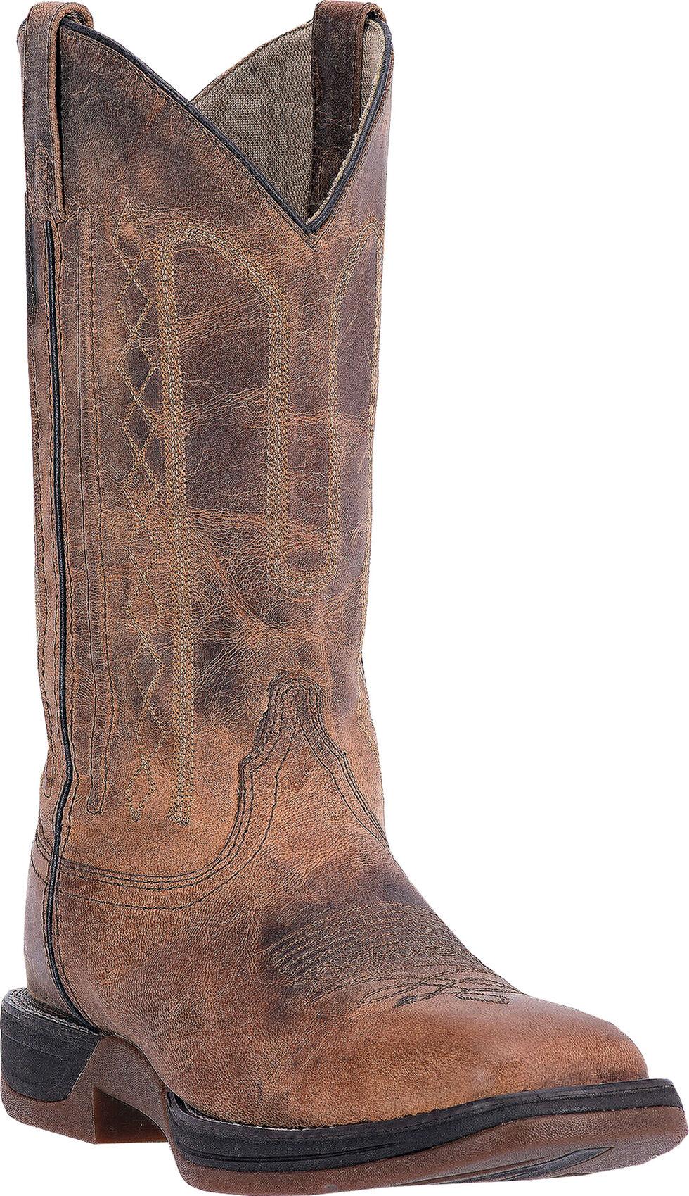Laredo Tan Bennett Cowboy Boots - Square Toe, Tan, hi-res