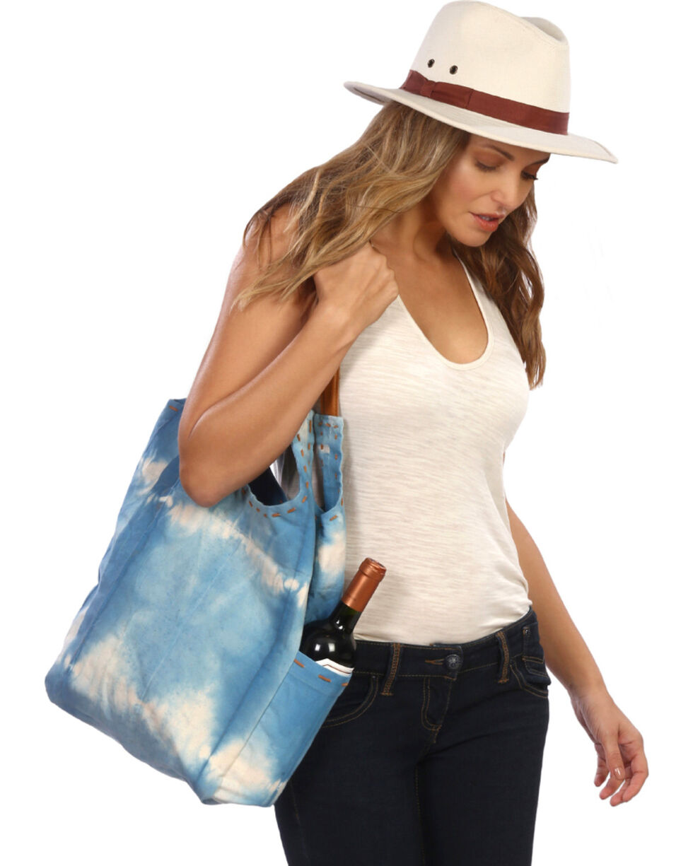 ále by Alessandra Women's Calistoga Tote Bag , Blue, hi-res