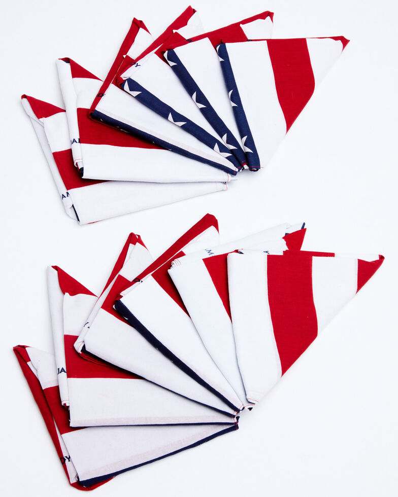Cody James Men's Americana Flag Bandana Facemasks - 12 Pack, Multi, hi-res