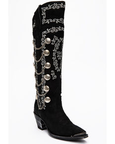 Dan Post Women's Chain Reaction Western Boots - Snip Toe, Black, hi-res