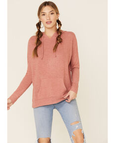 Angie Women's Brushed Hacci Hooded Sweatshirt , , hi-res