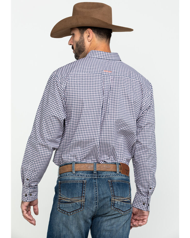 Ariat Men's Umber Stretch Multi Plaid Long Sleeve Western Shirt - Big , Multi, hi-res