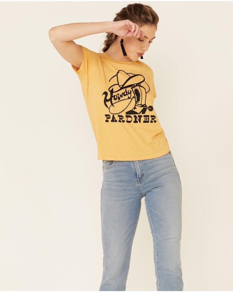 Bandit Women's Dust Gold Howdy Pardner Graphic Tee , Dark Yellow, hi-res