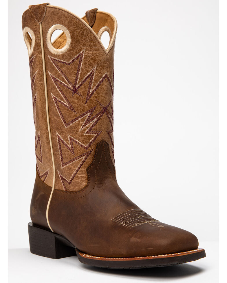 Cody James Men's Sheridan Western Boots - Wide Square Toe, Chocolate, hi-res