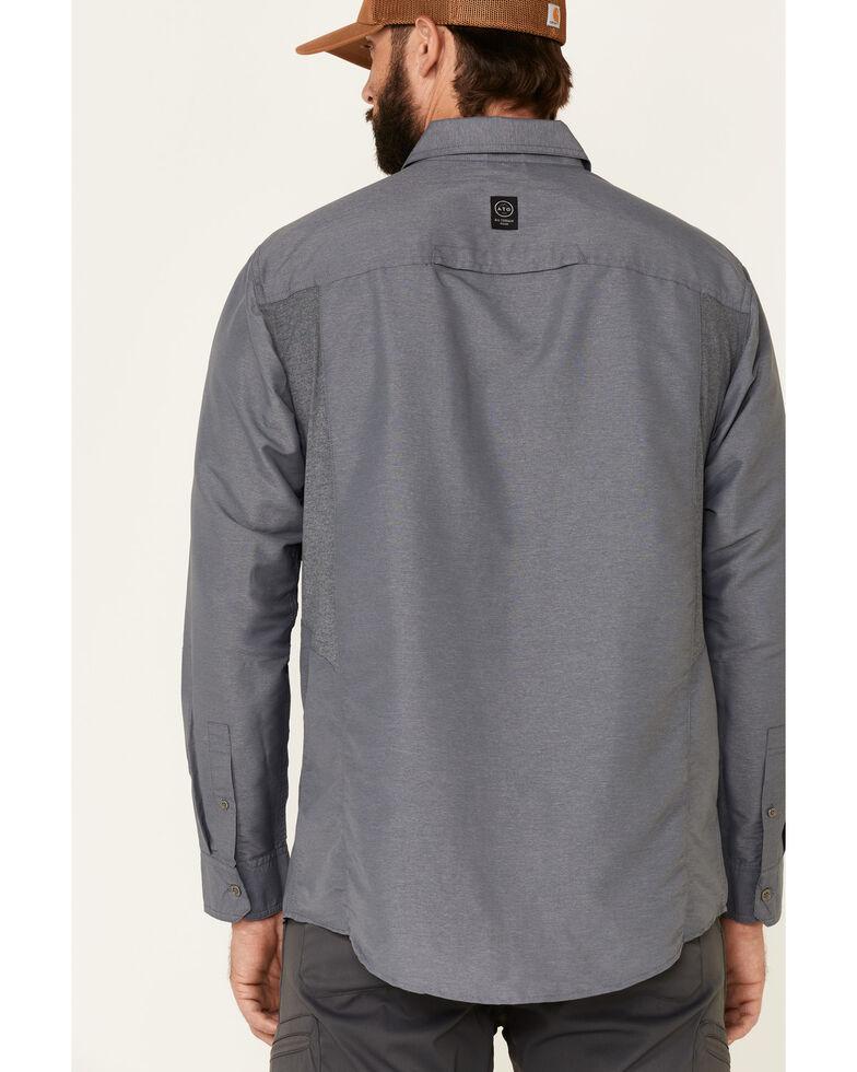 ATG™ by Wrangler Men's All Terrain Grey Mix Material Utility Long Sleeve Western Shirt , Multi, hi-res