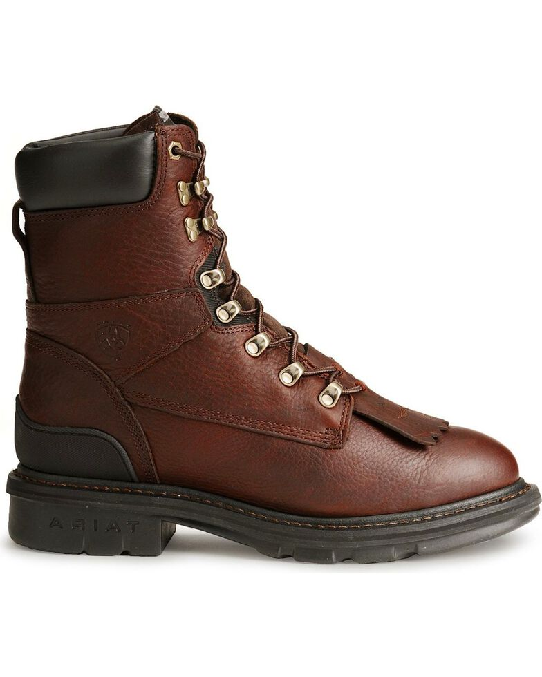 """Ariat Hermosa XR 8"""" Lace-Up Work Boots, Redwood, hi-res"""
