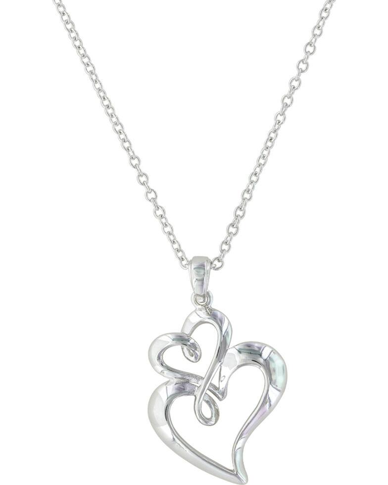 Montana Silversmiths Women's Infinite Love Heart Necklace , Silver, hi-res