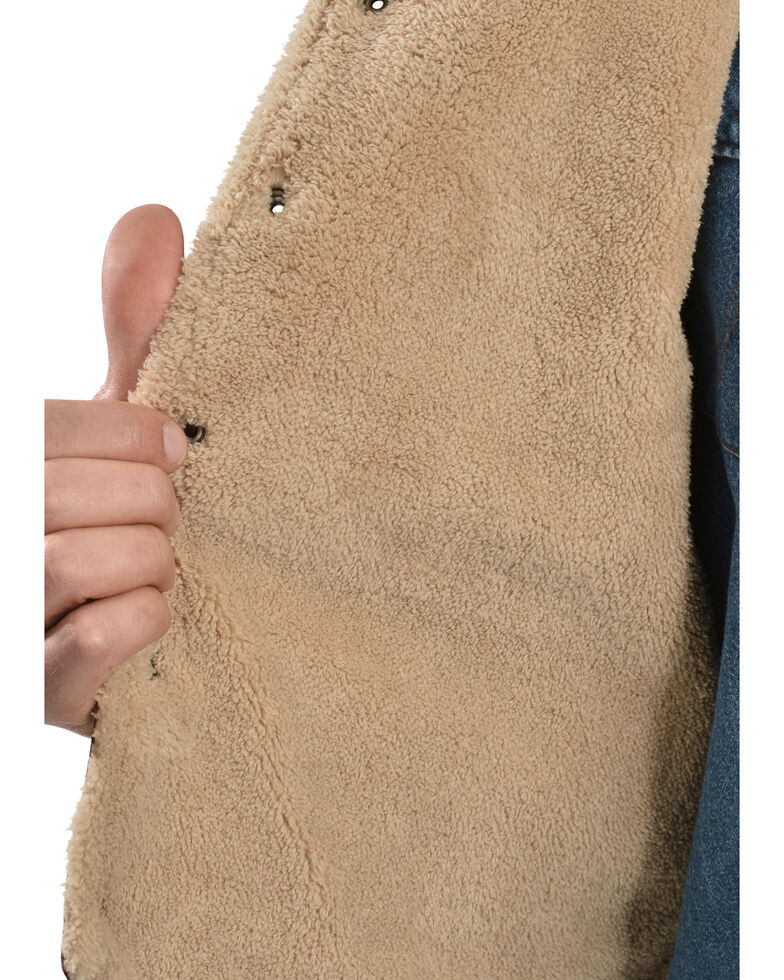 Scully Boar Suede Leather Vest, Brown, hi-res