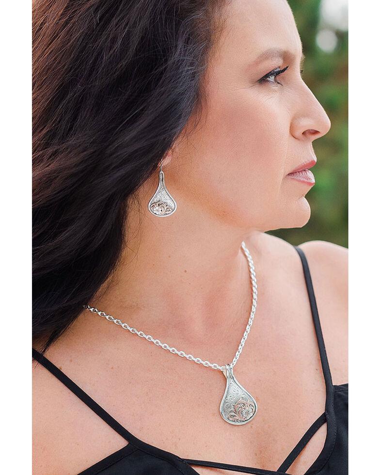 Montana Silversmiths Women's Secret Garden Earrings, Rose, hi-res