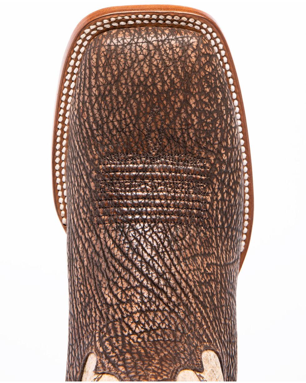 Cody James Men's Ambar Sanded Shark Western Boots - Square Toe, Brown, hi-res