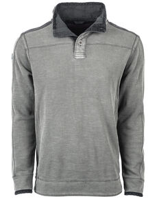 STS Ranchwear Men's Outlander 2 Button Top Pullover - Big , Grey, hi-res