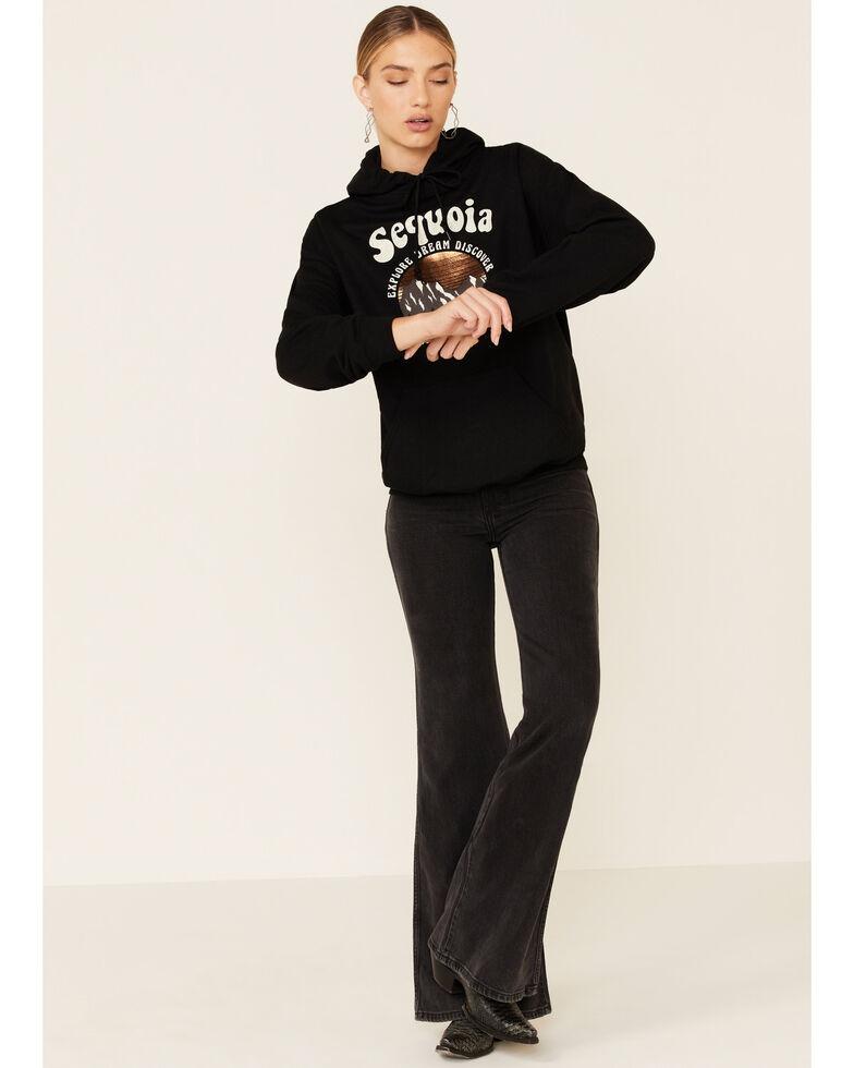 Cut & Paste Women's Black Sequoia Foil Graphic Hooded Sweatshirt , Black, hi-res