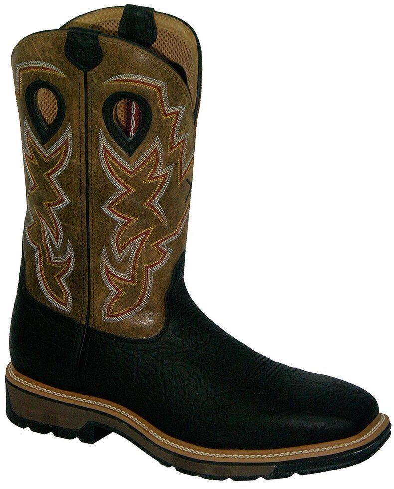 Twisted X Lite Pull-On Work Boots - Steel Toe, Black, hi-res