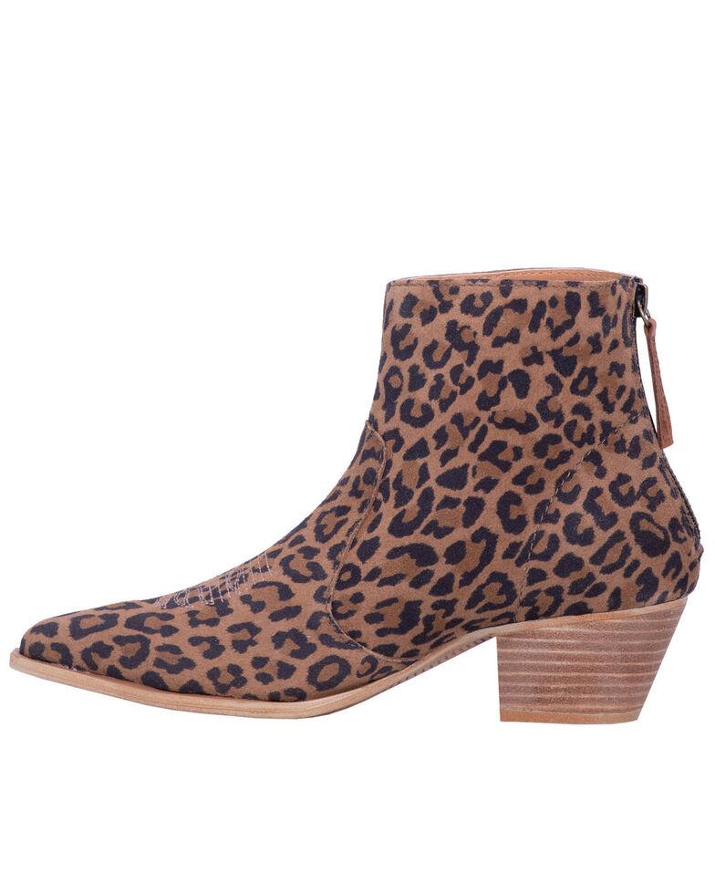 Dingo Women's Klanton Leopard Print Fashion Booties - Snip Toe, Leopard, hi-res