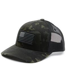 Rock & Roll Denim Men's Camo Flag Patch Mesh-Back Ball Cap , Camouflage, hi-res