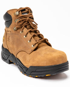 Hawx Men's Enforcer Lace-Up Work Boots - Nano Composite Toe, Brown, hi-res