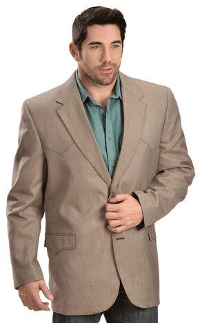 Circle S Men's Textured Brown Western Sport Coat, Brown, hi-res