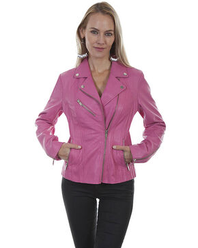 Leatherwear by Scully Women's Pink Motorcycle Jacket, Pink, hi-res