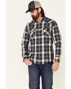 Flag & Anthem Men's Blue Harleyville Plaid Long Sleeve Snap Western Shirt , Blue, hi-res