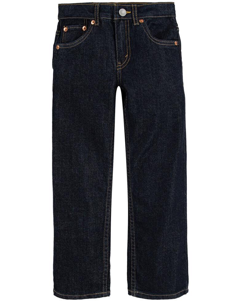 Levi's Boys' 514 Dark Rinse Tumble Straight Leg Jeans , Dark Blue, hi-res