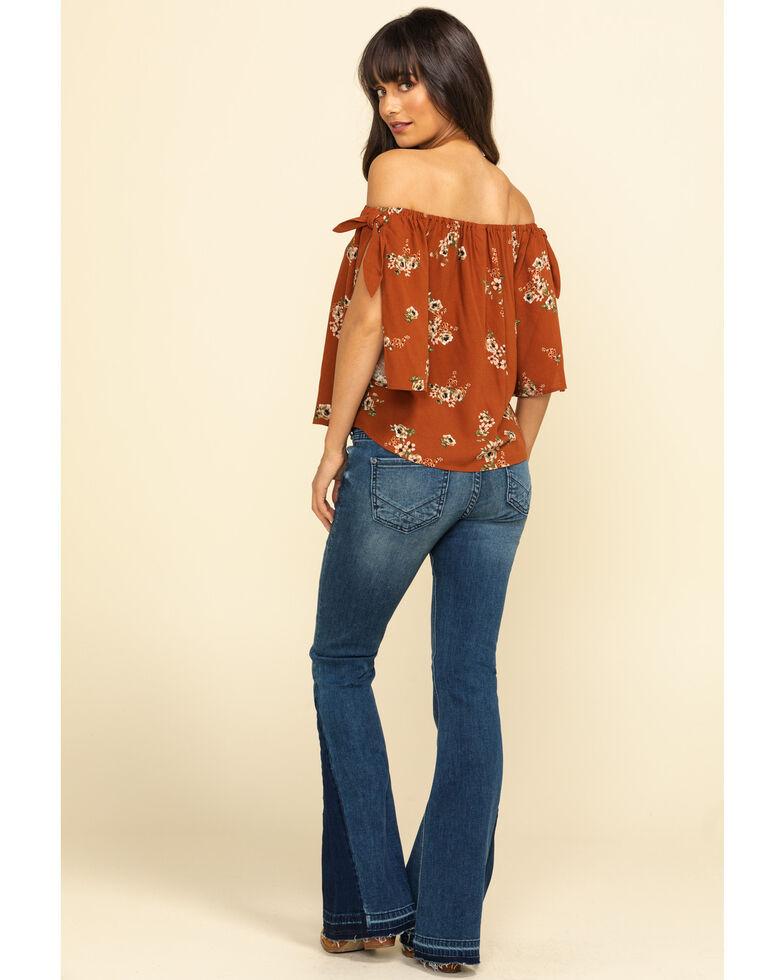 Rock & Roll Cowgirl Women's Medium Dark Flare Jeans , Blue, hi-res