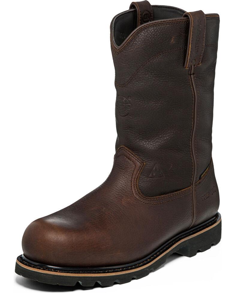 Justin Men's Miner Waterproof Insulated Work Boots - Composite Toe , Brown, hi-res
