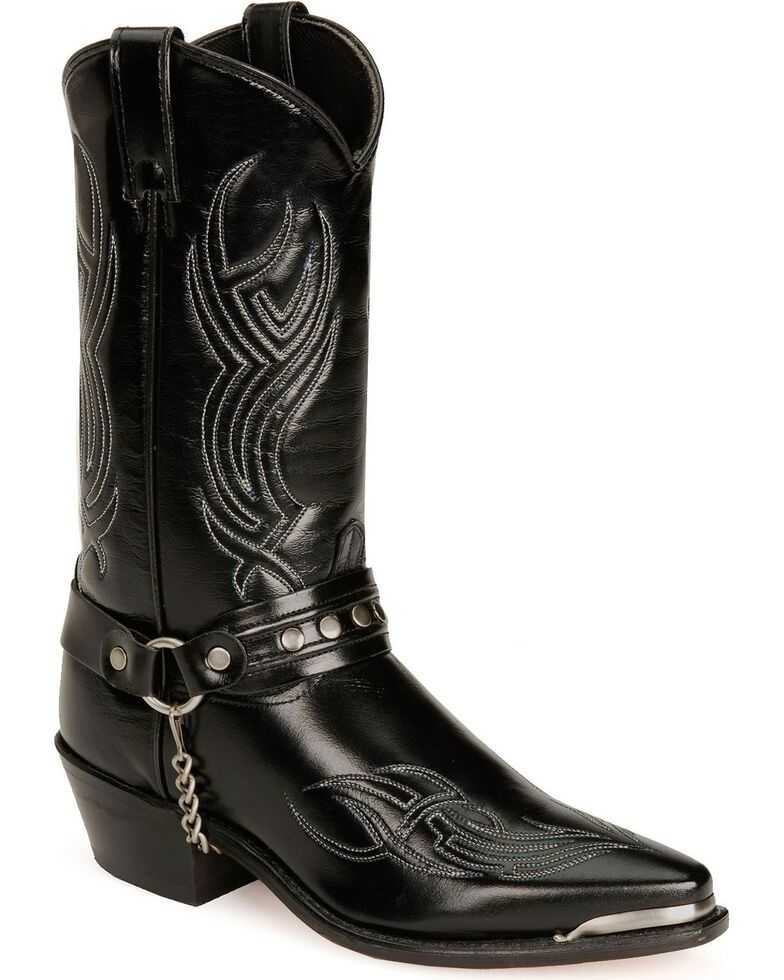 Sage by Abilene Studded Harness Boots, Black, hi-res