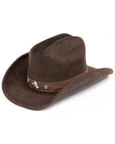 Bullhide Kids' Horsing Around Wool Cowboy Hat, Chocolate, hi-res