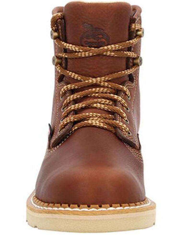 Georgia Boot Men's USA Wedge Work Boots - Steel Toe, Brown, hi-res
