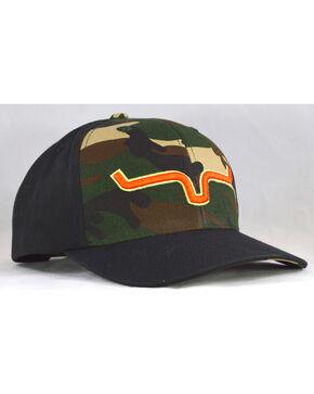 Kimes Ranch Men's Camo Bounty Hunter Logo Baseball Cap , Camouflage, hi-res