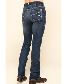 Ariat Women's Dark Wash R.E.A.L Arrow Fit Lucia Straight Jeans, Blue, hi-res