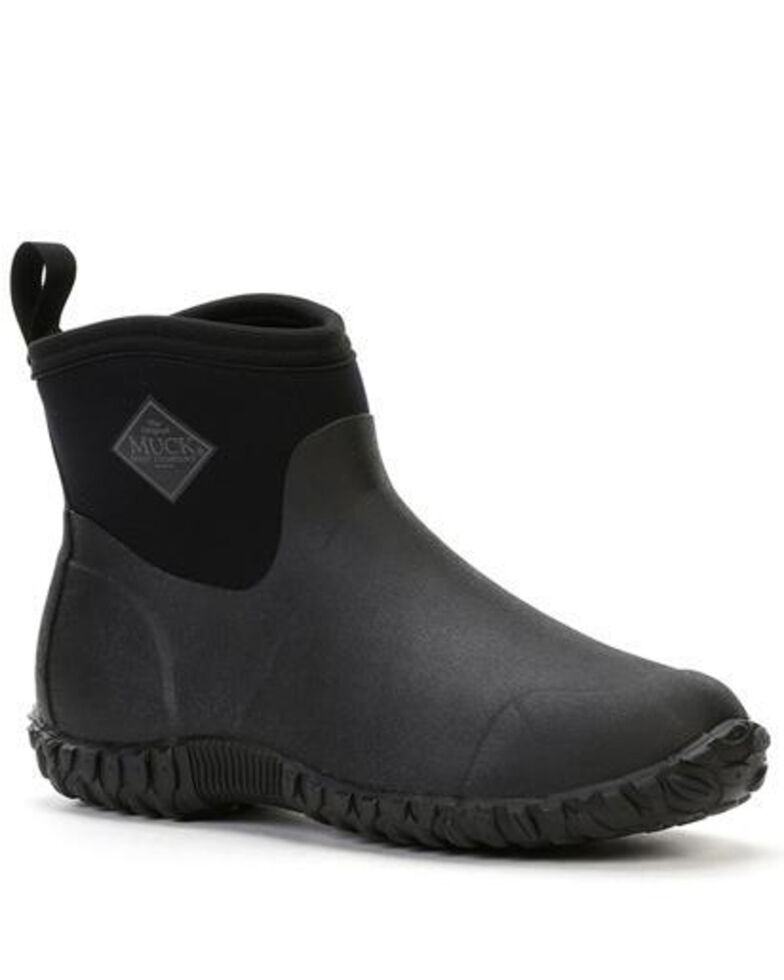 Muck Boots Men's Muckster II Ankle Rubber Boots - Round Toe, Black, hi-res