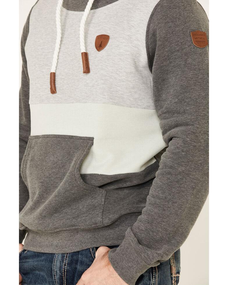 Wanakome Men's Hermes Color-Blocked Hooded Sweatshirt , Grey, hi-res
