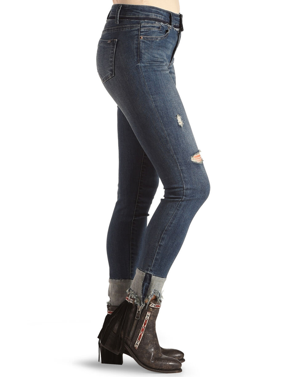 Tractr Women's Obsession Ankle Crop Jeans , Indigo, hi-res