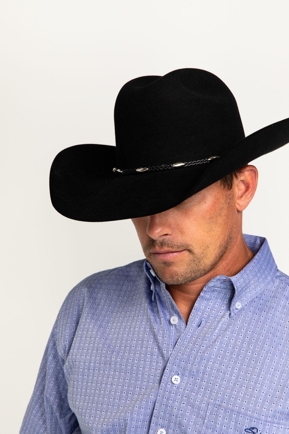 Cody James Casino Black 3X Wool Felt Cowboy Hat, Black, hi-res
