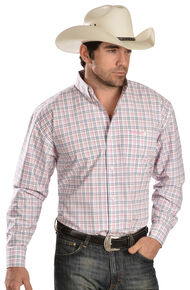 "Wrangler ""Tough Enough To Wear Pink"" Print Long Sleeve Shirt, Pink, hi-res"