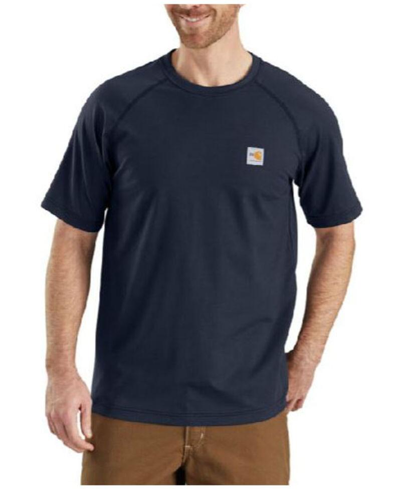 Carhartt Men's Flame Resistant Force Short Sleeve T-Shirt Big & Tall, Navy, hi-res